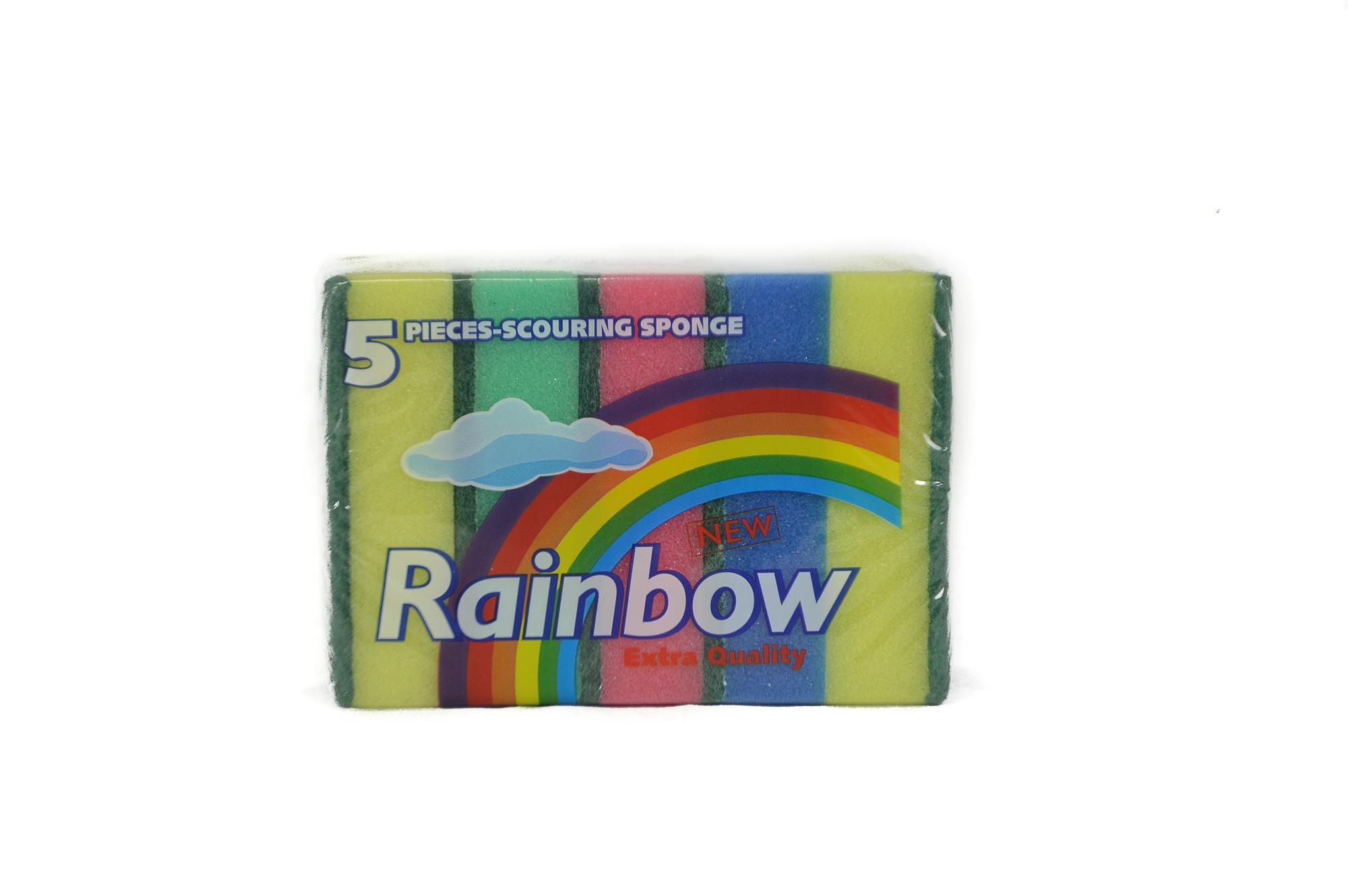 Rainbow Sponges (3 Packs of 5 ct)