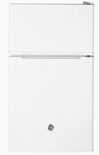 GE 4.0-cu ft Freestanding Mini Fridge Freezer Compartment (White)