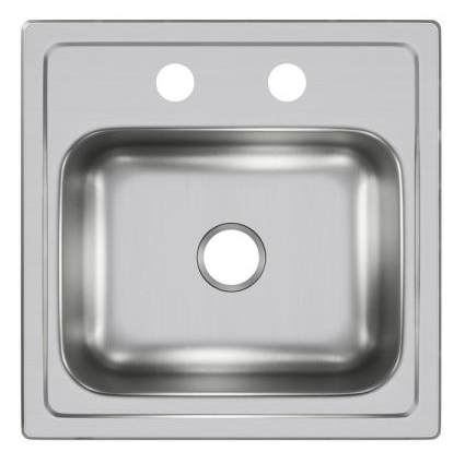 All-in-One Drop-in Stainless Steel 2-Hole Single Bowl  Sink