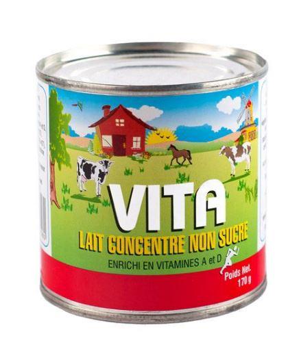 Evaporated milk / Lait Evaporé Vita (48 X 170g)