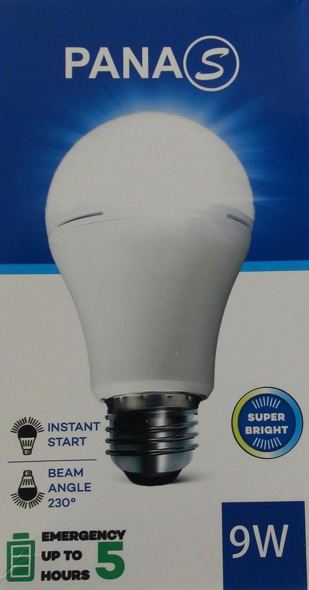 Light Bulb / Ampoule PANAS rechargeable 9 W